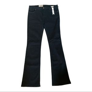 NWT Carreli Black Mid Rise Flare Leg Jeans